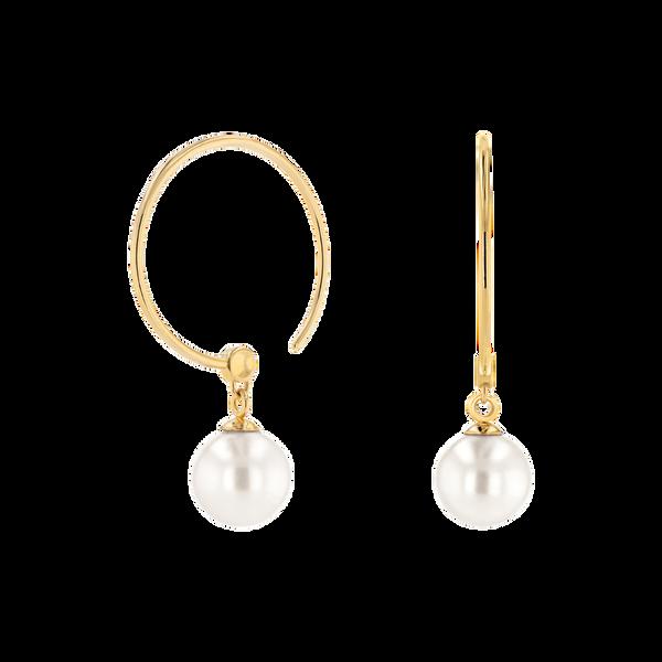 Movado Pearl Hoop Earrings