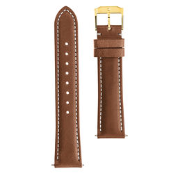 18mm Watch Strap with Gold Buckle