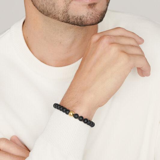 Movado Men's Beaded Bracelet