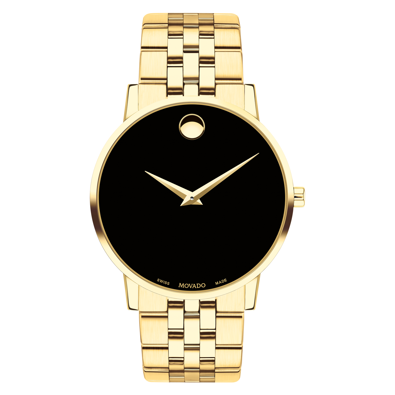 Movado | Museum Classic Men's Gold PVD Bracelet Watch With Black Dial