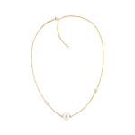 Movado Short Signature Pearl Necklace