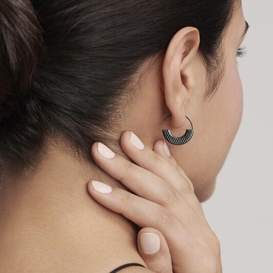Movado Textured Hoop Earrings