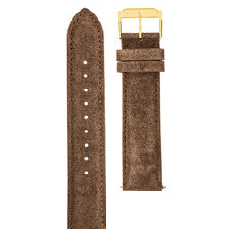 20mm Watch Strap with Gold Buckle