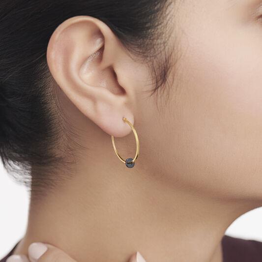 Movado Simple Hoop Earrings