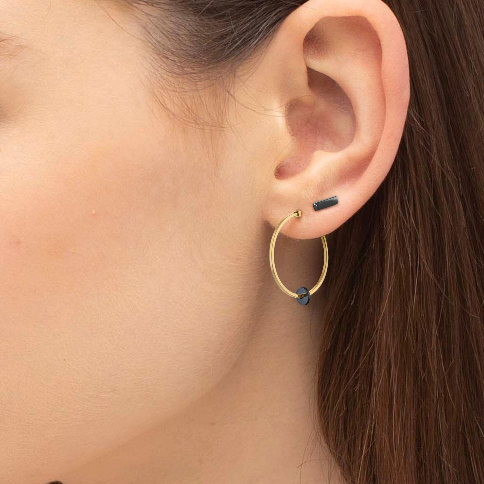Movado Single Bar Stud Earring