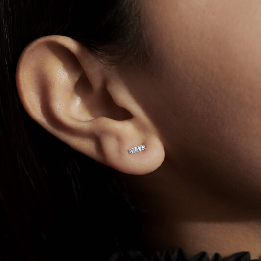 Movado Single Bar Stud Earring
