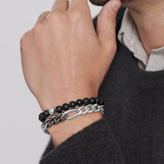 Movado Men's Beaded Bracelet