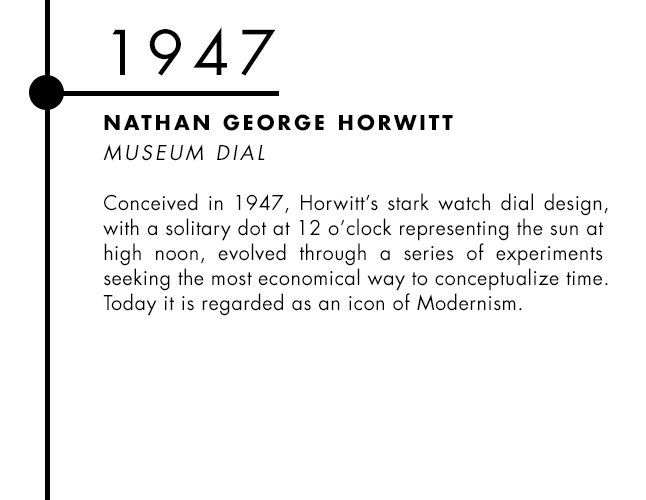 Nathan George Horwitt designed Museum Dial watch