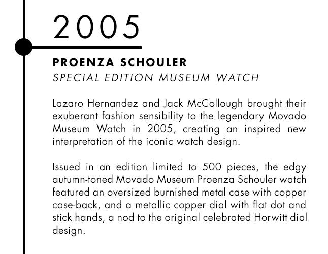 Proenza Schouler and Movado designer watch collaboration