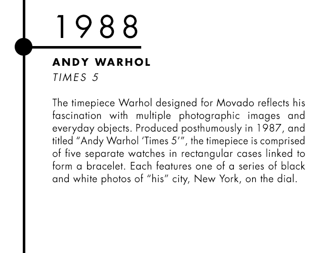 Andy Warhol and Movado designer watch collaboration