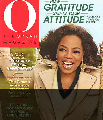 November 2018 issue of Oprah Magazine