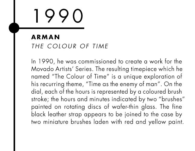 Arman and Movado designer watch collaboration