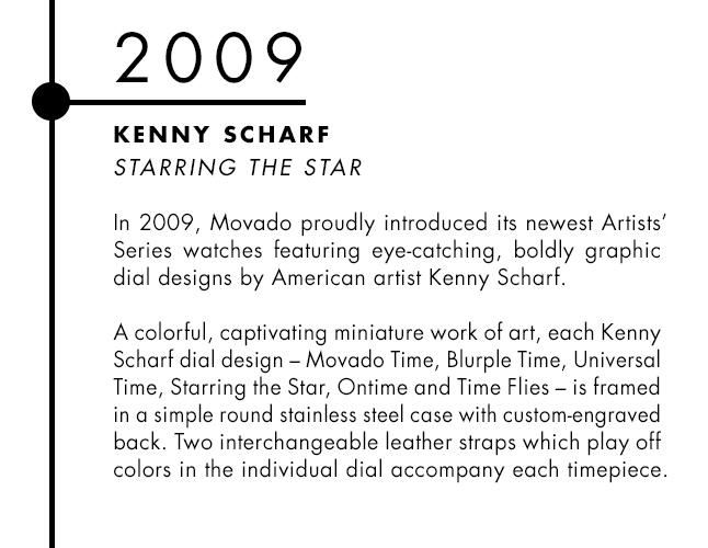 Kenny Scharf and Movado designer watch collaboration
