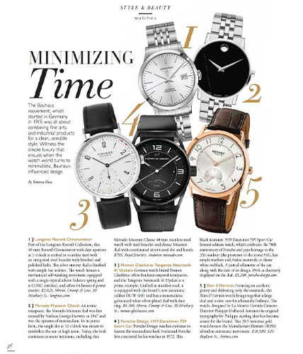 Movado museum classic watch featured in Boston Common magazine