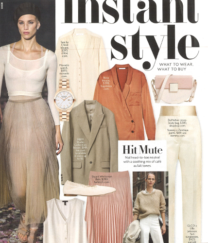 Movado Heritage Series Watch featured in InStyle Magazine