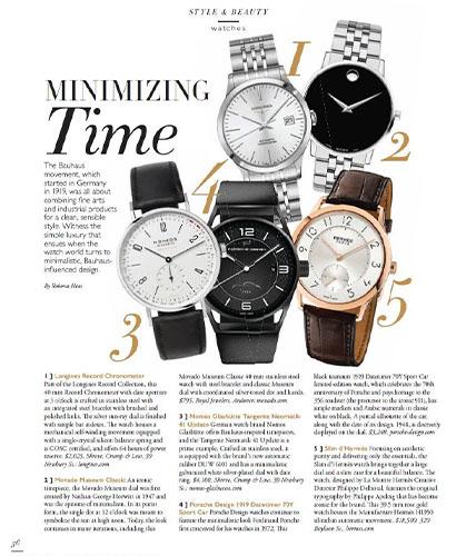 Movado museum classic watch featured in Boston Common magazine