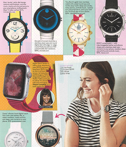 Movado Connect Watch featured in US Weekly Magazine