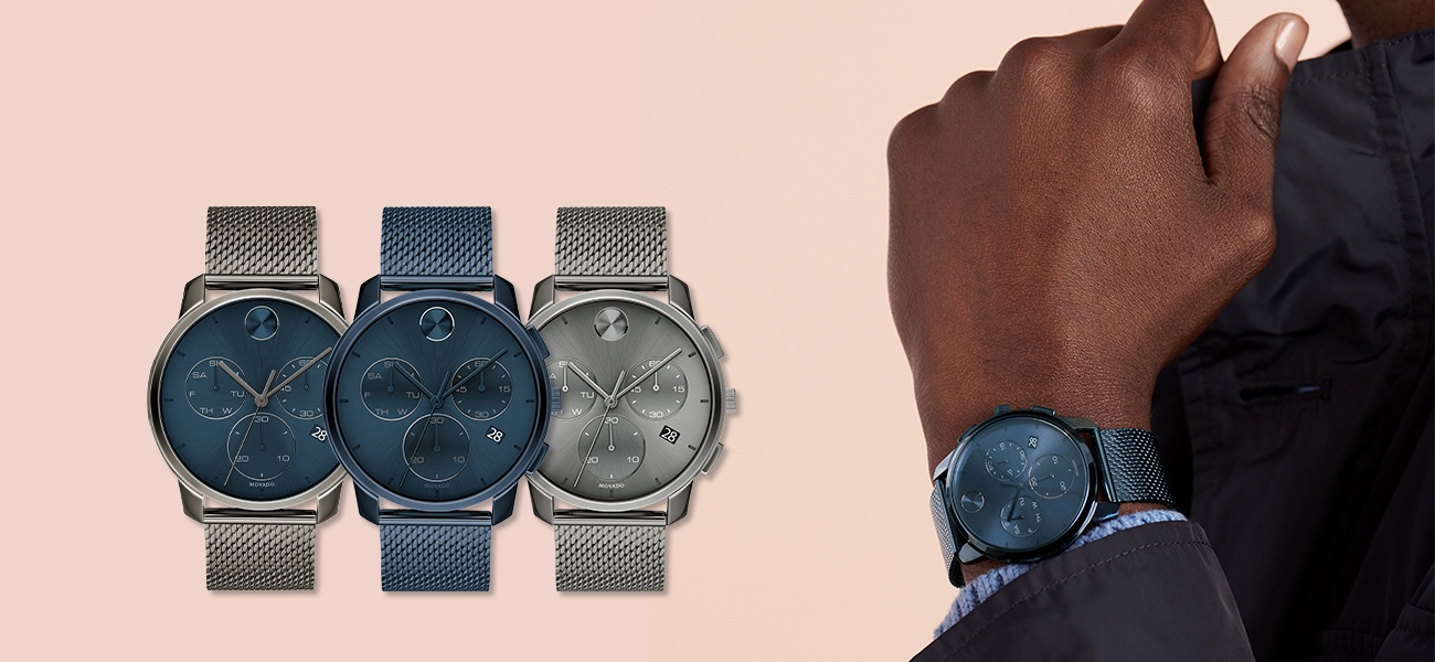 Movado BOLD Thin Chronograph Watches
