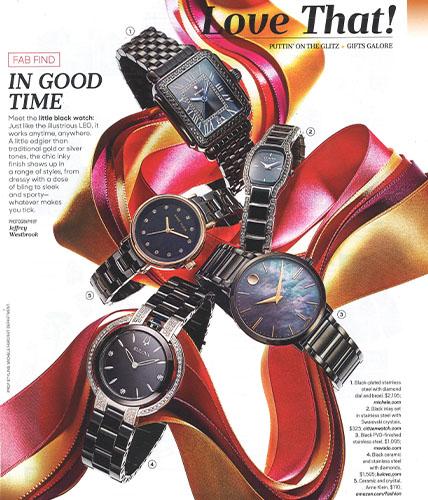 Movado ultra slim watch featured in Oprah magazine