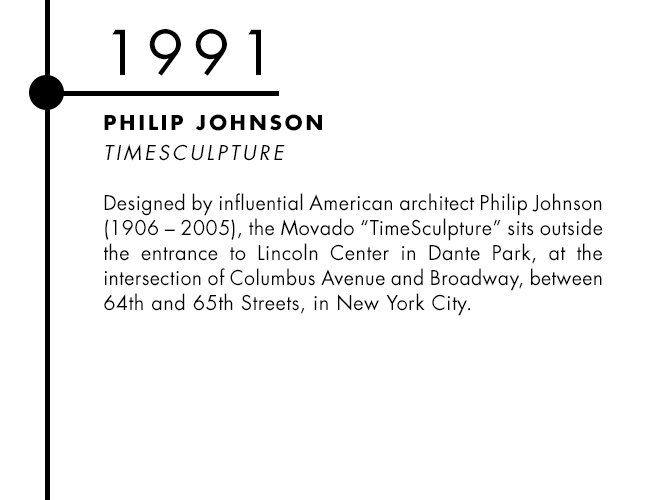 Philip Johnson and Movado designer watch collaboration