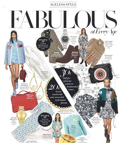 Movado bold watch featured in Harpers Bazaar magazine