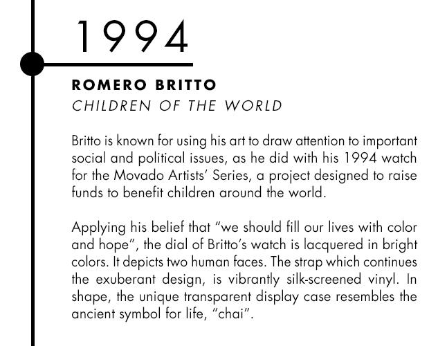 Romero Britto and Movado designer watch collaboration